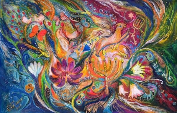 Chupah Wall Art - Painting - The Fairytale by Elena Kotliarker