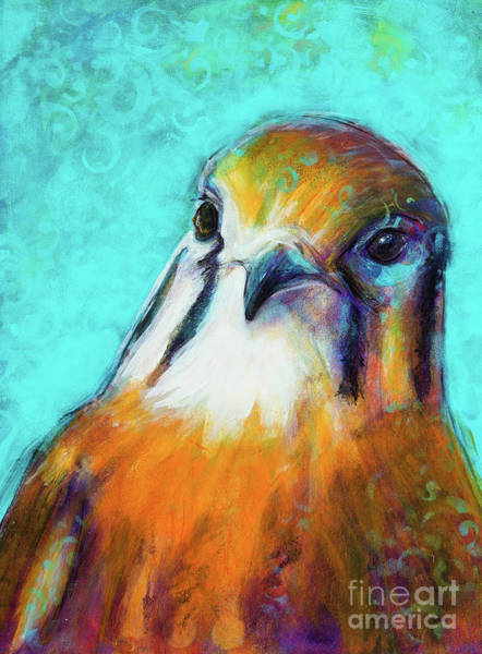 Rosemary Painting - The Falcon King by Rosemary Conroy
