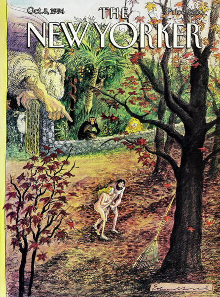 Rake Painting - New Yorker October 3rd, 1994 by Edward Sorel