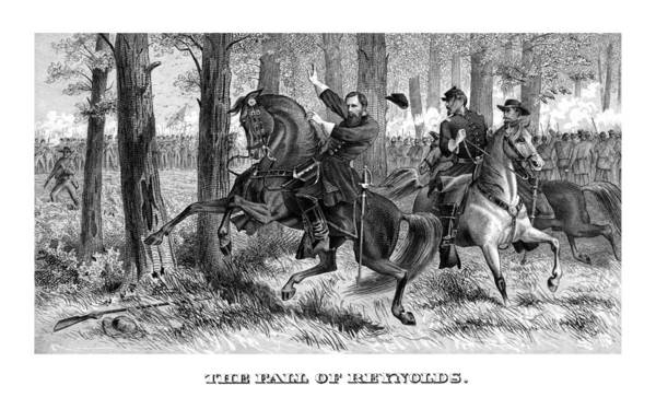 Civil War Wall Art - Painting - The Fall Of Reynolds - Civil War by War Is Hell Store