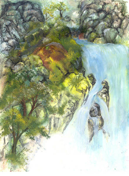 Painting - The Falls by Sherry Shipley