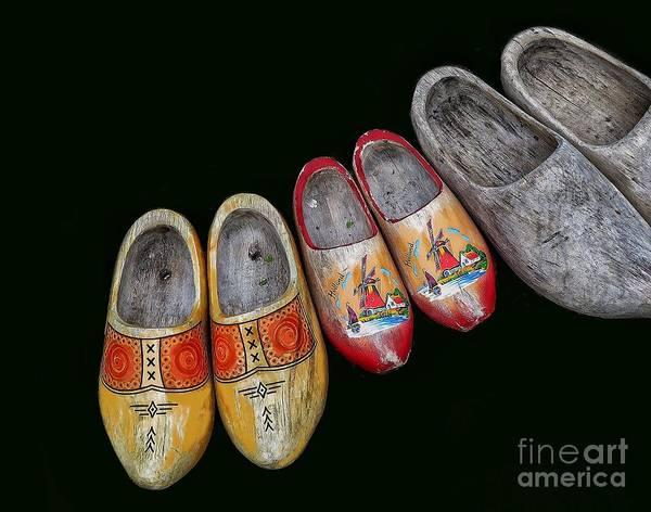 Wooden Shoe Digital Art - The Family by Diana Rajala