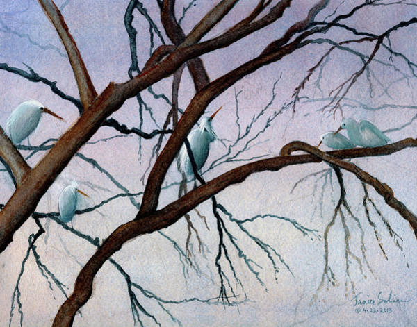 Roost Painting - The Family by Janice Sobien