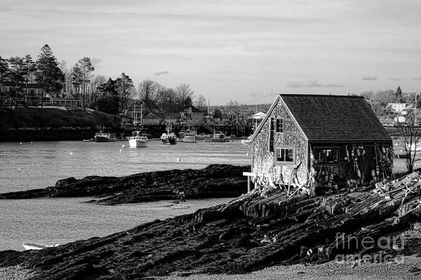 Wall Art - Photograph - The Famous Lobsterman Shack On Mackerel Cove  by Olivier Le Queinec