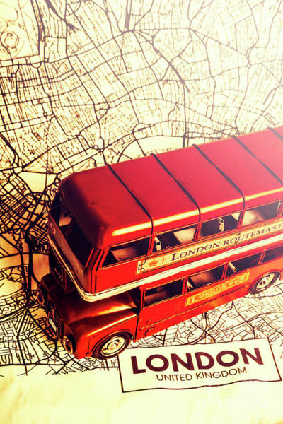 Map Photograph - The Famous Red Bus by Jorgo Photography - Wall Art Gallery