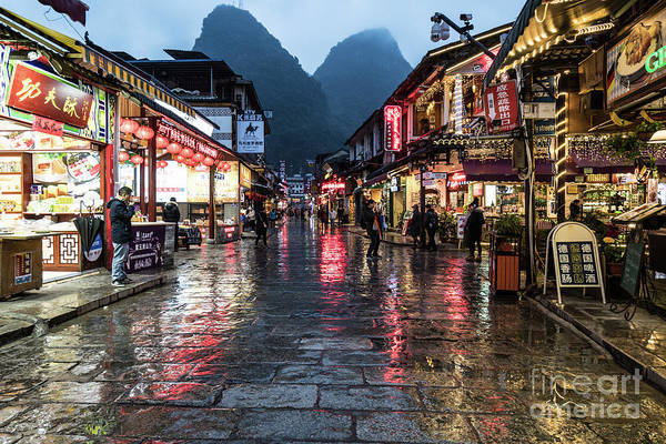 Photograph - The Famous West Street In Yangshuo Near Guilin In South China by Didier Marti