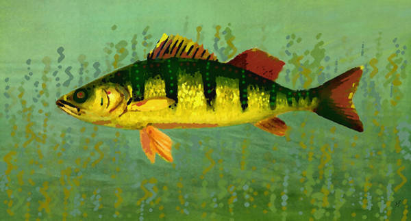 Digital Art - The Fanciful Limon Barb by Shelli Fitzpatrick