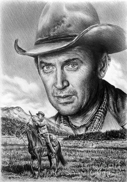 Grass Field Drawing - The Far Country by Andrew Read