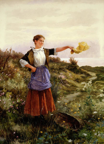 Plow Painting - The Farewell by Daniel Ridgway Knight