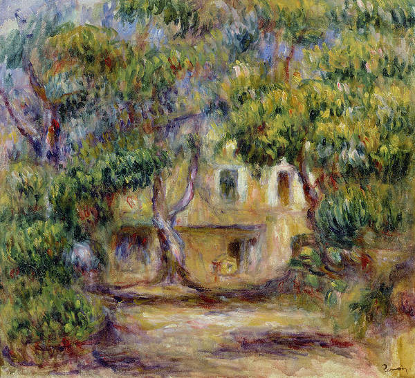 Wall Art - Painting - The Farm At Les Collettes by Pierre Auguste Renoir