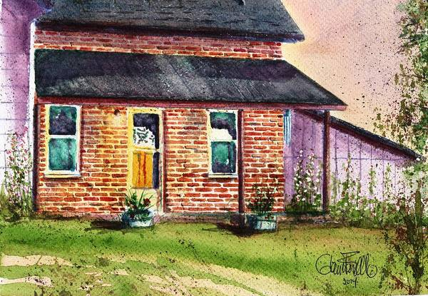 Wind Chime Painting - The Farm House by Glenn Farrell