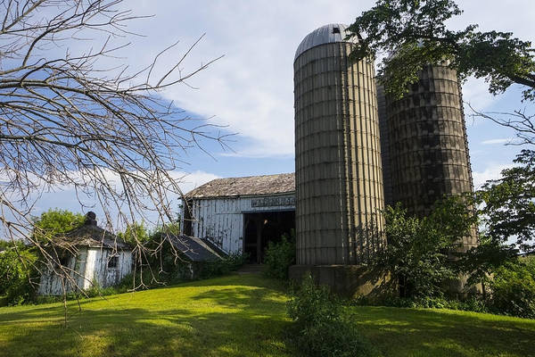 Silo Photograph - The Farm by Jeff Klingler