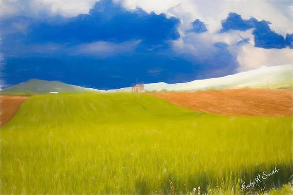 Digital Art - The Farm by Rusty R Smith