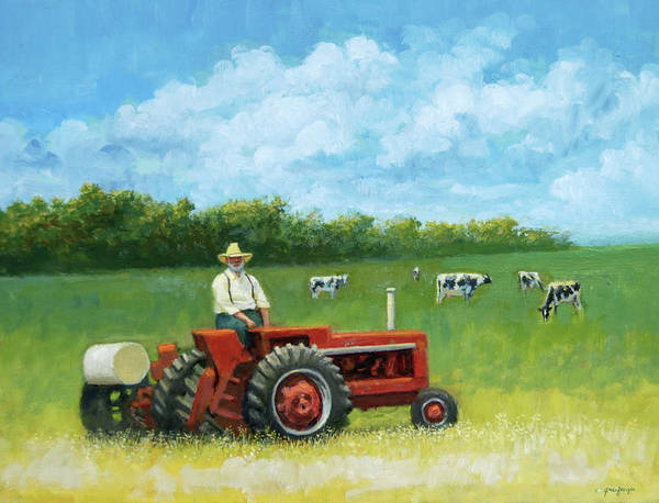 Painting - The Farmer by Mel Greifinger