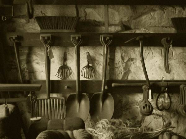 Photograph - The Farmer's Toolshed by RC DeWinter