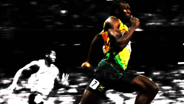 Speed Record Mixed Media - The Fastest Man On Earth Usain Bolt by Brian Reaves