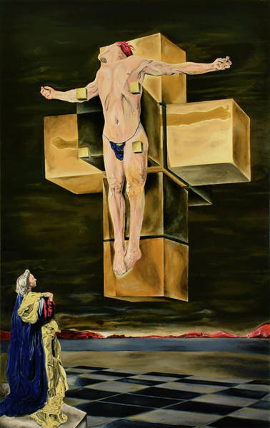 Painting - The Father Is Present -after Dali- by Ryan Demaree