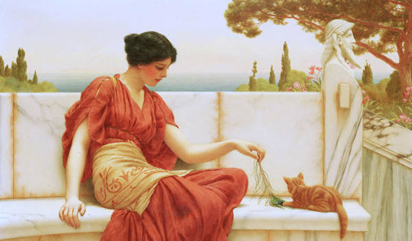 Wall Art - Painting - The Favourite by John William Godward
