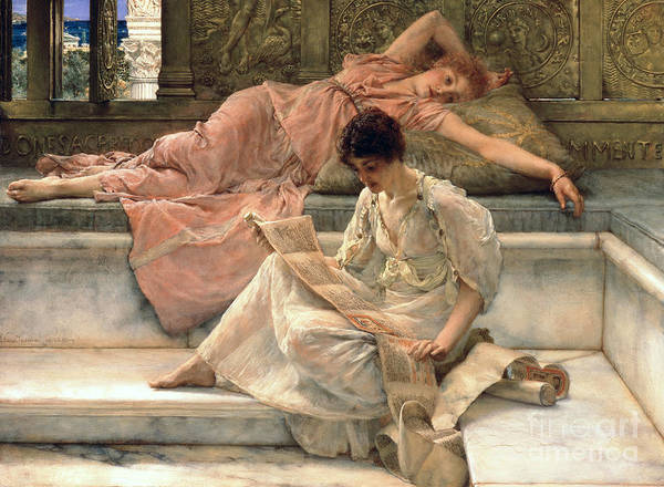 Dolce Wall Art - Painting - The Favourite Poet by Sir Lawrence Alma-Tadema