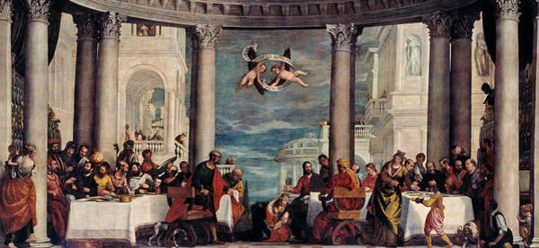 Feast Painting - The Feast In The House Of Simon The Pharisee  by Paolo Veronese
