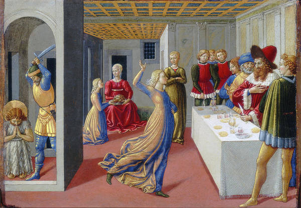 Painting - The Feast Of Herod And The Beheading Of Saint John The Baptist by Benozzo Gozzoli