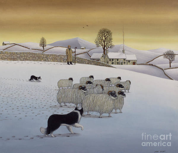 Wall Art - Painting - The Fells In Winter by Larry Smart