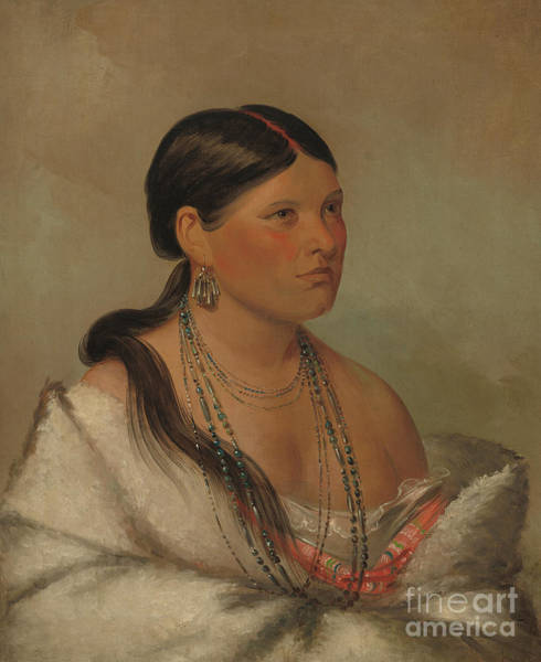 Tribal Woman Wall Art - Painting - The Female Eagle, Shawano, 1830 by George Catlin