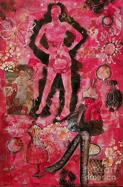 Paper Dress Mixed Media - The Feminine Mystique by Lorrie Hilson