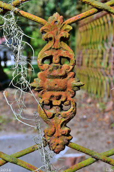 Photograph - The Fence At The Chapel Of Ease St. Helena Island Beaufort Sc by Lisa Wooten