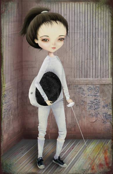 Wall Art - Digital Art - The Fencer by Jessica Von Braun