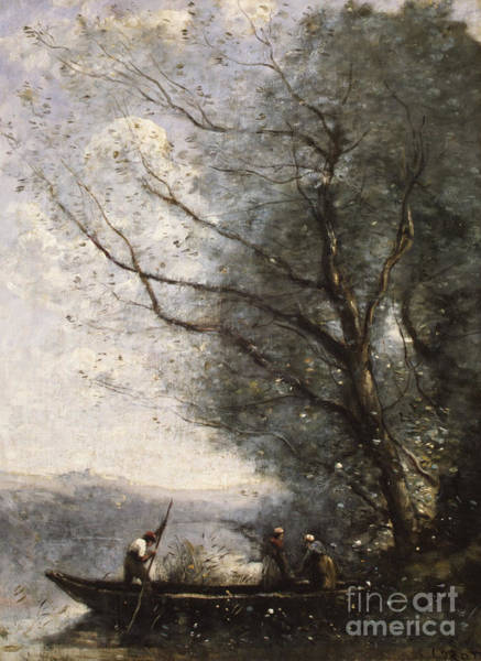 Wall Art - Painting - The Ferryman, Circa 1865 by Jean Baptiste Camille Corot