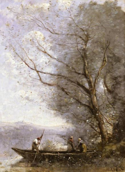 Painting - The Ferryman by Jean-Baptiste-Camille Corot