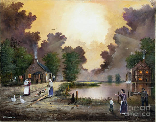 Painting - The Ferryman by Ken Wood