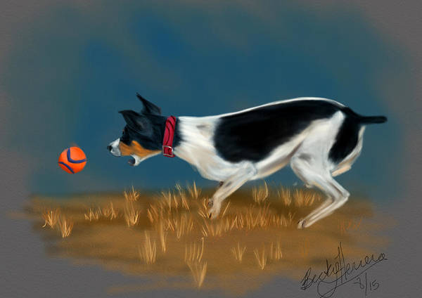 Drawing - The Fetch  by Becky Herrera