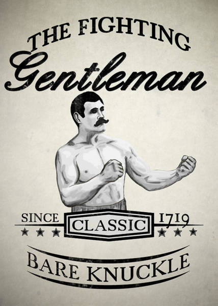 Vintage Poster Wall Art - Digital Art - The Fighting Gentlemen by Nicklas Gustafsson