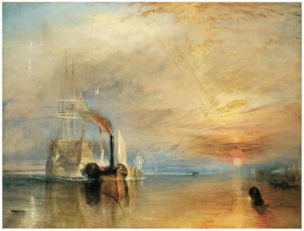 J. M. W. Turner Painting - The Fighting Temeraire Tugged To Her Last Berth by J M W Turner
