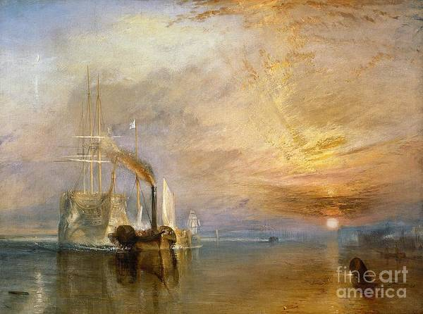 Wall Art - Painting - The Fighting Temeraire Tugged To Her Last Berth To Be Broken Up by Joseph Mallord William Turner
