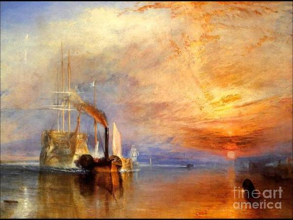Wall Art - Painting - the Fighting Temeraire turner by Richard John Holden RA