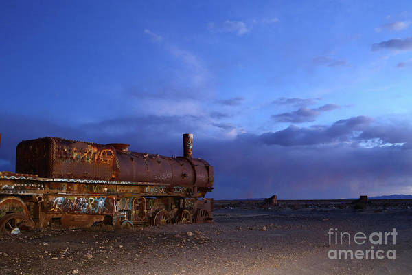 Photograph - The Final Days Of Steam Trains Uyuni Bolivia by James Brunker