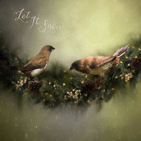 Painting - The Finches Who Stole Christmas - Seasonal Art by Jordan Blackstone