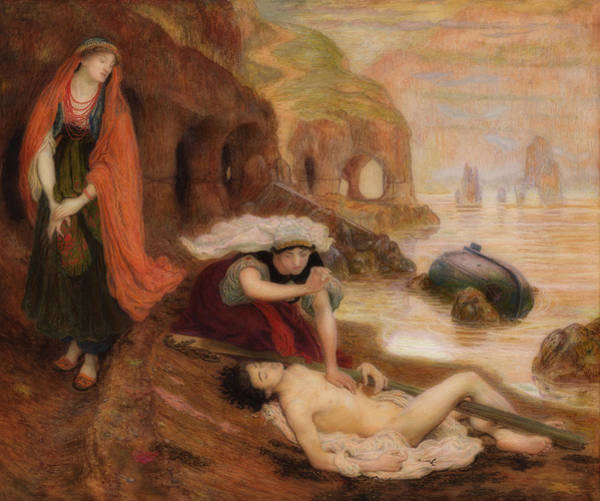Outcrop Painting - The Finding Of Don Juan By Haidee by Ford Maddox Brown