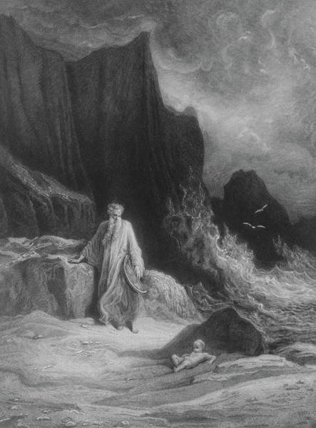 Wall Art - Drawing - The Finding Of King Arthur by Gustave Dore