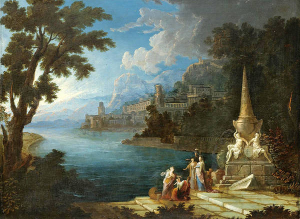 Gabriel Painting - The Finding Of Moses by Attributed to Gabriel Allegrain