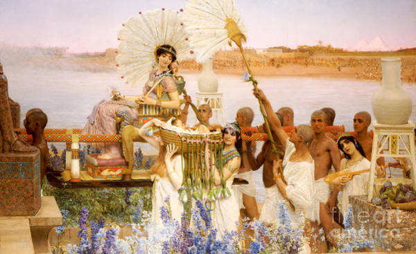 Lady In Waiting Painting - The Finding Of Moses by Sir Lawrence Alma Tadema