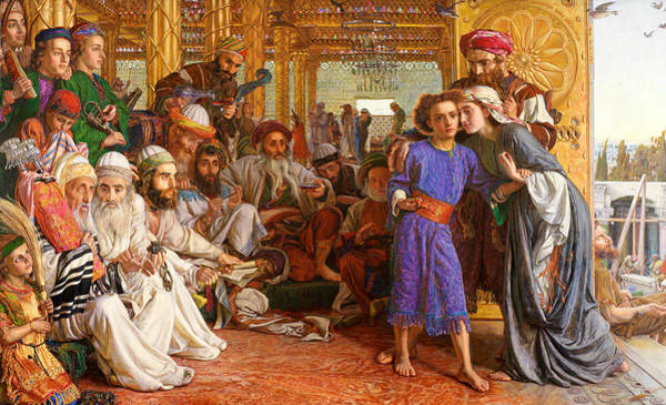 Painting - The Finding Of The Saviour In The Temple  by William Holman Hunt
