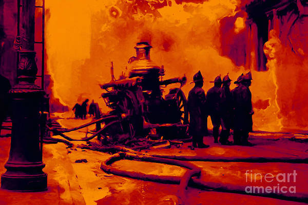 Photograph - The Fire Fighters - 20130207 by Wingsdomain Art and Photography