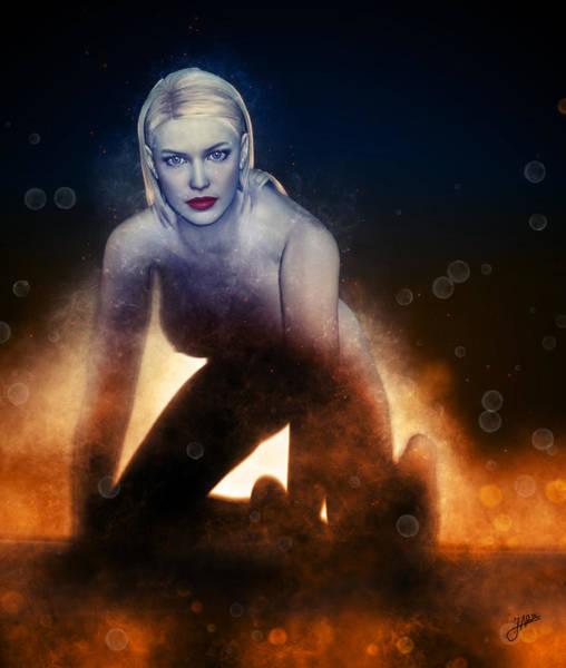 Wall Art - Digital Art - The Fire Girl by Joaquin Abella