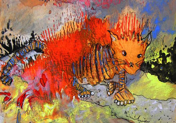 Painting - The Firecat by Miki De Goodaboom