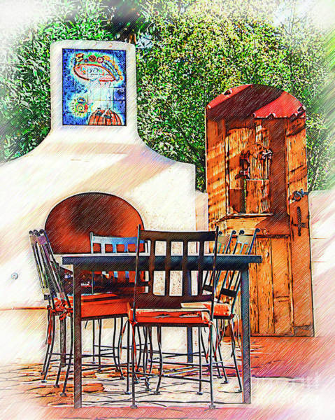 Digital Art - The Fireplace, Table And Door by Kirt Tisdale