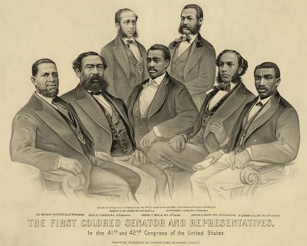 Wall Art - Photograph - The First African American Senator by Everett